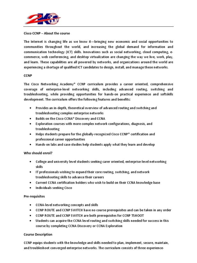 Cisco Ccnp Info Cisco Certifications Computer Networking