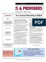 Payers & Providers Midwest Edition -- Issue of May 22, 2012