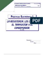 Prácticas d Electrónica I,resistencia,diodo y bjt-18 pgs