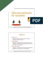 6.- Operacionalizacion de Variables