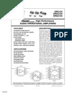 OPA2134 TI Datasheet
