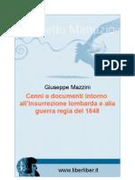 Giuseppe Mazzini - Cenni e documenti intorno all'insurrezione lombarda e alla guerra regia del 1848