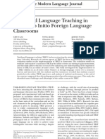 Task-Based Language Teaching In