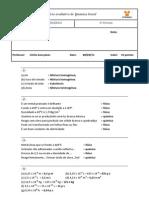 2012-03-14 - Exercicio Avaliativo Quimica - 10 Pontos