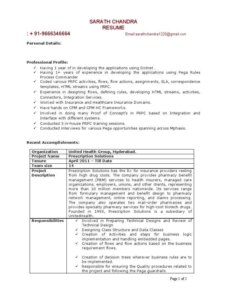 sarath pega rules process 1 years experience resume java script software engineering - Resume Rules
