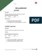 Bsc Alarm List and Its Description