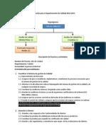 Planeación para el departamento de Calidad 2012