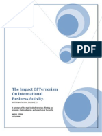 The Impact of Terrorism on International Business Activity