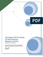 The Impact of Terrorism on International Business Activity