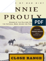 """""""People in Hell Just Want a Drink of Water:"""" A Wyoming story from CLOSE RANGE by Annie Proulx"""
