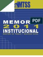 Memoria MTSS 2011