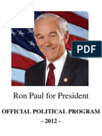 Ron Paul for President - Official Political Program 2012