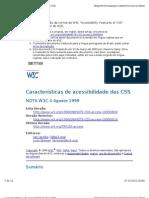 Caracter Sticas de Acessibilidade Das CSS