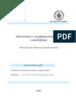 Alteraciones y Manipulaciones de La Contabilidad-tesis de Doctorado