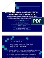 Hydro Graphic & Geophysical Surveys on a REEF Site Planning a Kelp Mitigation Artificial Reef Offshore of San Clemente, California