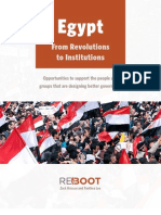 Reboot Egypt From Revolutions to Institutions