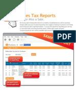 Sales Tax Report Sample