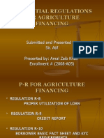 Agri Prudential Regulations