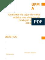 Qualidade de cajus-de-mesa obtidos nos sistemas de produção