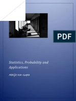 A short course on Statistics, Probability and Applications