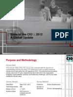 CIO State of the CIO Research 2012