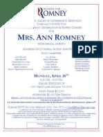 Birthday Celebration for Romney for President