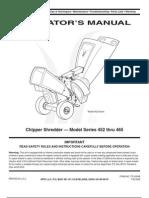 MTD 24A46E729 Chipper-Shredder Owner's Manual