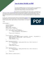 Clase Para Manejar Base de Datos MySQL en PHP POO