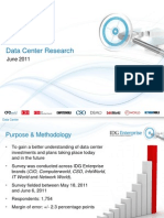 IDG Enterprise Data Center Survey 2011