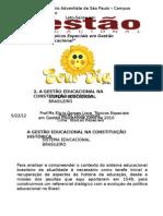 Aula 2. A GESTÃO EDUCACIONAL NA CONSTITUIÇÃO HISTÓRICA