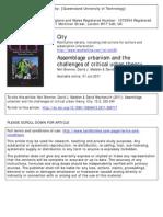 Brenner Et Al. 2011 Assemblage Urbanism