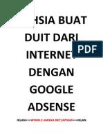 Rahsia Buat Duit Dengan Google Adsense