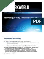 Network World Tech Buying Process Survey 2011 Excerpt