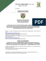 PLIEGOS DE CONDICIONES