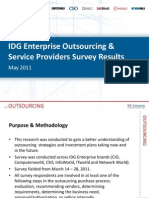 IDG Enterprise IT Outsourcing Research 2011 Excerpt