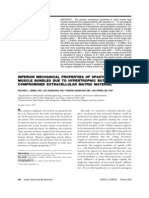 Inferior Mechanical Properties of Spastic Muscles Due to Compromised Extra Cellular Matrix Material