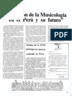 A D - Situación de la musicología en el Perú y su futuro [Conservatorio -- No. 1 (Dic. 1986)]