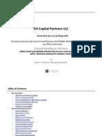 CH Capital SBA  Financial Modeling