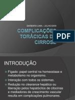 Complicações toracicas do figado cirrotico