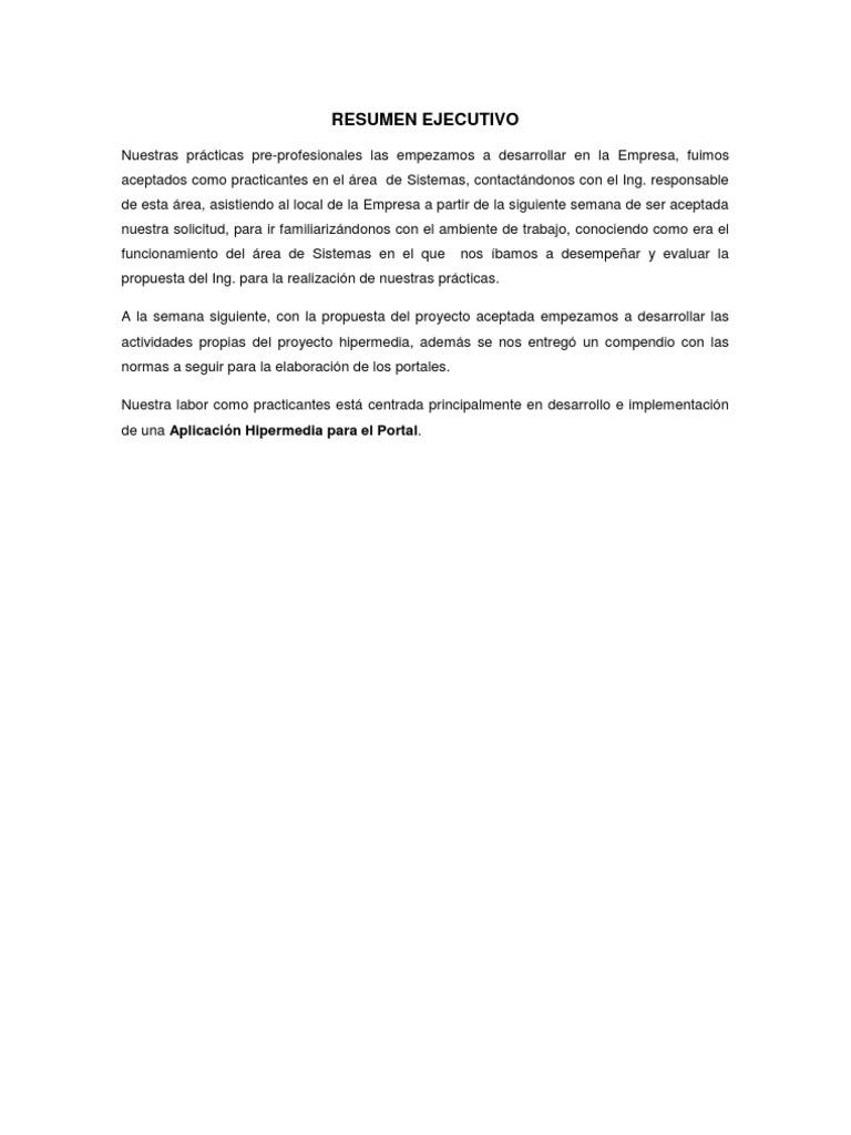 Excelente Plantilla De Resumen De Proyecto Ejecutivo Colección ...