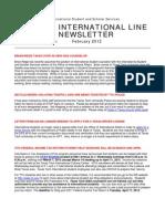 February 2012 International Line Newsletter