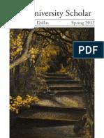 Literary Magazine - University Scholar - 2012