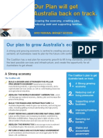 Budget 2012 Double-sided A4 Newsletter