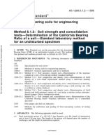As 1289.6.1.2-1998 Methods of Testing Soils for Engineering Purposes Soil Strength and Consolidation Tests