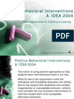 Positive Behavioral Interventions