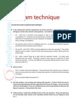 P2 Exam Technique