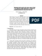 Analisis Faktor Web Personal Dosen