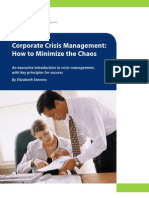 Corporate Crisis Management - Minimize the Chaos | White Paper