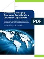 Successfully Managing Emergency Operations in a Distributed Environment