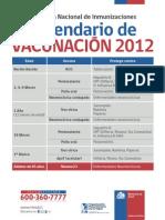 Afiche calendario vacunas